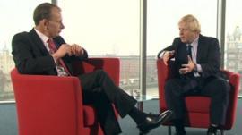 Andrew Marr and Boris Johnson