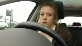 Young female driver
