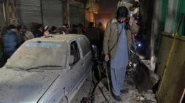 Man surveys damage in Peshawar
