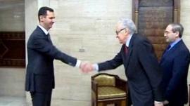 President Bashar al-Assad meets envoy, Lakhdar Brahimi