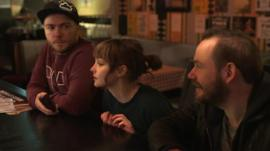 Martin Doherty, Lauren Mayberry and Iain Cook