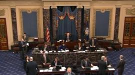 Scene in US senate