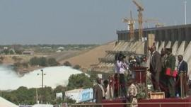 Opening of dam in Sudan