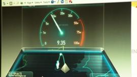 Broadband speedometer