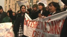Protest in Delhi following gang-rape