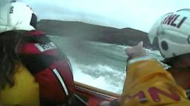 Footage of RNLI rescue crew