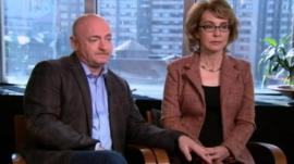 Gabrielle Giffords with her husband Mark Kelly