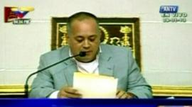 Diosdado Cabello, President of the National Assembly