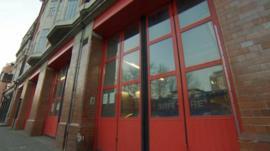 Fire station in Southwark