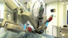 The robot at the Bradford Royal Infirmary