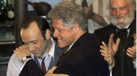 Kevin Space and Bill Clinton
