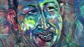 Painting of President Hugo Chavez