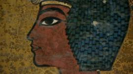 Painting of the boy king, Tutankhamun