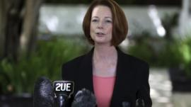 The prime minister of Australia Julia Gillard