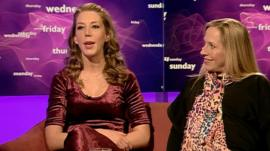 Katherine Ryan and Lowri Turner