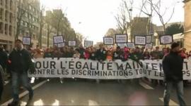 Marchers in Paris