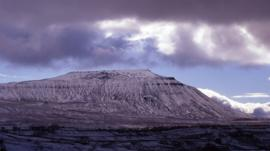 Ingleborough in winter