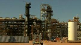Gas plant in Algeria