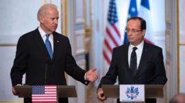 Joe Biden and Francois Hollande