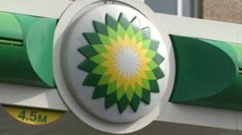 BP petrol station sign