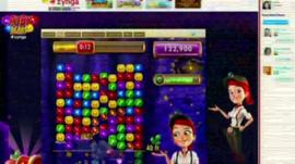 Screen grab of Zynga game