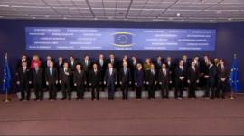 EU summit family photo