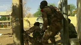 Malian troops in Gao