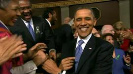 US President Obama during his State of the Union address