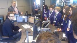 Denton Community College School Reporters at MediaCityUK