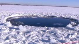 Hole in ice