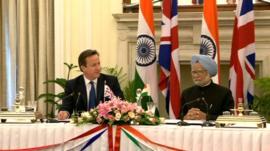 PM David Cameron and Manmohan Singh