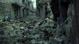 Destruction in Aleppo