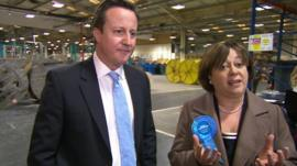 David Cameron and Maria Hutchings