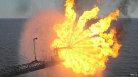 Flare oil platform
