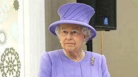 The Queen, at the Royal London Hospital