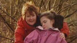Linda Mills with her daughter Holly