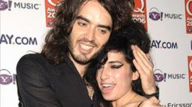 Russell Brand with Amy Winehouse