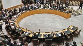 Security Council members vote for tough new sanctions against North Korea