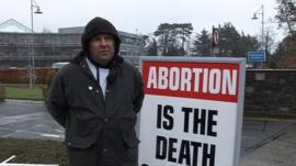 Anti-abortion protester