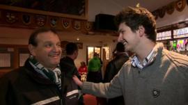 Adam Wyatt meeting opponent Luke Mclennan