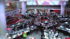 New Broadcasting House newsroom
