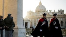 Security guards near St Peter's Square, Rome