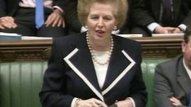 Margaret Thatcher in Commons