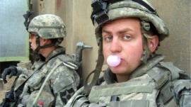 Soldier Alex Horton in Iraq