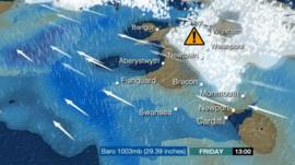 BBC Wales weather map