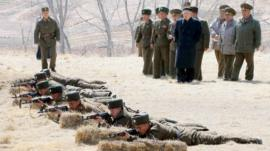 KCNA image shows North Korean leader Kim Jong-un visiting a military unit on 23 March 2013