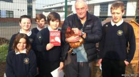 BBC Radio 4 broadcast the student's exploration of how chicken rearing has become a popular activity at the Middleborough school