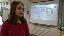 Dunkirk Primary pupil Kayleigh in one of the finance lessons