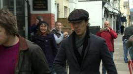 Benedict Cumberbatch arrives at the Daffodil
