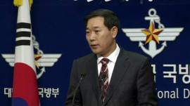 South Korea Defence Ministry spokesman Wi Yong-Sup